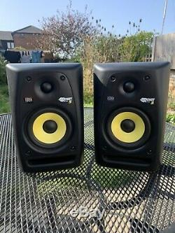 Pair Of KRK Rokit 5 RPG2 Powered Studio Monitors + All Cables And ISO Pads