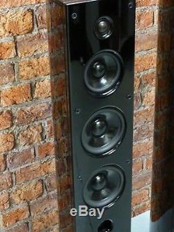 Pair Of Loewe L2A Active Powered Gloss Black Floor Standing Loudspeakers