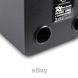 Pair PD SM5 5 ACTIVE + PASSIVE 160w POWERED DJ Studio Monitors Speakers Set