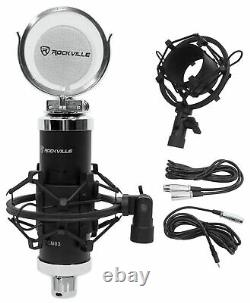 Pair Presonus Eris E3.5 3.5 Powered Studio Monitor Speakers+Microphone+Shield