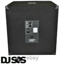 Pair Qtx Qt18sa 18 1000 Watt Active Powered Subwoofer Sub Bass Bin Dj Pa Club