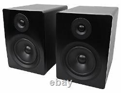 Pair Rockville APM5B 5.25 2-Way 250W Powered Studio Monitors+10 Sub+Interface
