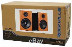 Pair Rockville APM5C 5.25 250W Powered USB Studio Quality Bookshelf Speakers