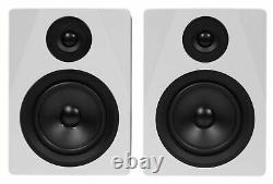 Pair Rockville APM5W 5.25 250W Powered USB Studio Quality Bookshelf Speakers