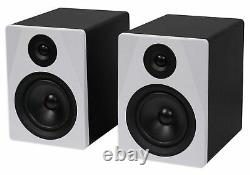 Pair Rockville APM5W 5.25 250w Powered USB Studio Monitor Speakers+21 Stands