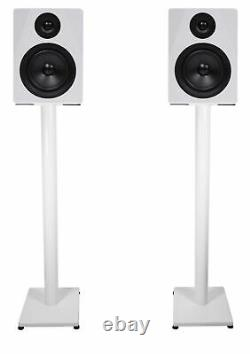 Pair Rockville APM5W 5.25 250w Powered USB Studio Monitor Speakers+37 Stands
