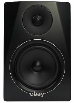 Pair Rockville APM6B 6.5 2-Way 350 Watt Powered USB Studio Monitors+Stands+Pads