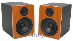 Pair Rockville APM6C 6.5 2-Way 350W Powered USB Studio Monitor Speakers+Pads