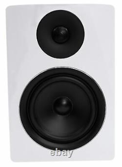 Pair Rockville APM6W 6.5 2-Way 350W Powered USB Studio Monitor Speakers+Pads