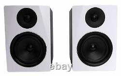 Pair Rockville APM6W 6.5 350W Powered Studio Monitors+Stands+Pads+Headphones