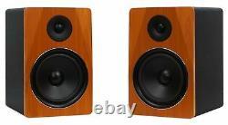 Pair Rockville APM8C 8 2-Way 500 Watt Powered USB Studio Monitor Speakers+Pads