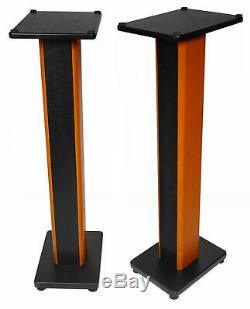 Pair Rockville APM8W 8 500W Powered Studio Monitors+36 Stands+Pads+Headphones