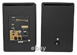 Pair Rockville APM8W 8 500 Watt Powered USB Studio Monitor Speakers+21 Stands