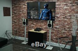 Pair Rockville APM8W 8 500 Watt Powered USB Studio Monitor Speakers+37 Stands