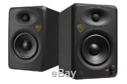 Pair Rockville ASM5 5 Powered USB Studio Monitors + Stands+Foam Isolation Pads