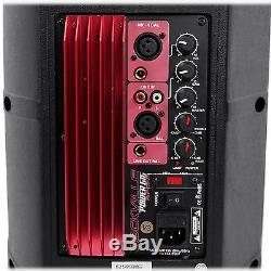 Pair Rockville Power Gig RPG8 8 Powered Active 800 Watt 2-Way DJ PA Speakers