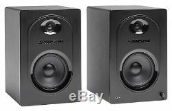 Pair Samson M50 5 Powered Studio/Computer/Podcast Reference Monitors Speakers