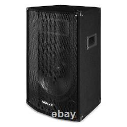 Pair of 12 Active Powered PA Speakers with Bluetooth USB MP3 DJ Stage 1200w