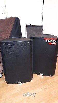Pair of Alto TS215 15 Powered Active 1100w DJ PA Speaker 2 Channel Mixer