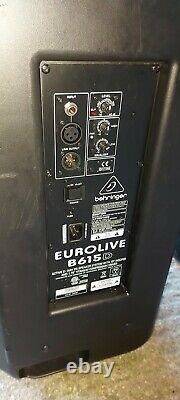 Pair of Behringer B615D Active 15 PA Powered Speakers 1500W 2 Way ABS DJ Band