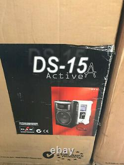 Pair of DAS Audio DS-15A Powered Speakers Mint Boxed