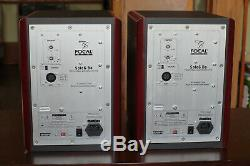 Pair of Focal Solo 6 Be red self-powered monitor speakers