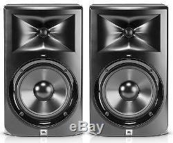 Pair of JBL Series 3 LSR308 8 Bi-amplified Two-Way Powered Studio Monitors