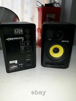 Pair of KRK ROKIT 5 G3 with Power Leads & XLR Leads (Black)