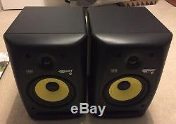 Pair of KRK Rokit 6 G2 Studio Monitors with Power Cables Excellent Condition
