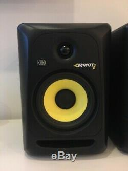Pair of KRK Systems Black Rokit 6 Powered Active Speakers RP6G3