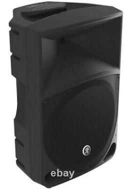 Pair of Mackie thump 12 Powered Speakers with stands and cases