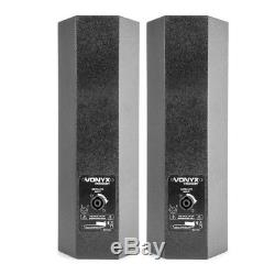 Pair of PA Speaker & Subwoofer Systems 1000w Active Power Live Stage Band Set