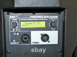 Pair of Peavey DM115 Dark Matter Pro PA / DJ 2 way Active Powered Speakers -USED