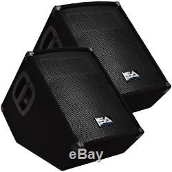 Pair of Powered 10 Floor Monitor PA DJ PRO Audio Speakers Active 10 Monitors