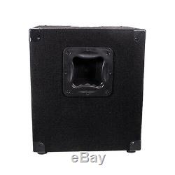 Pair of Powered 10 Pro Audio Subwoofer Cabinets PA DJ PRO Audio Band Subwoofer