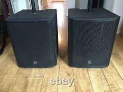 Pair of Turbosound iNSPIRE ip15B Powered/Active Bass Subs (poles Included)
