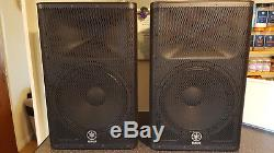 Pair of YAMAHA DXR15 Powered Speakers including covers
