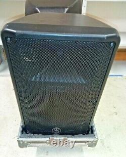 Pair of Yamaha DBR12 12 Inch Powered PA Speakers In Flight Case