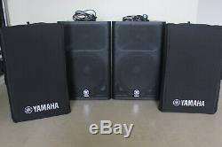 Pair of Yamaha DXR15 Active Speakers, Original Yamaha Covers, and Power Leads