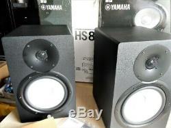 Pair of Yamaha HS8 POWERED STUDIO MONITORS 120 W
