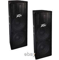 Peavey (2) Pv215 Pro Audio DJ Dual 15 Floor Passive 1400W Pa Speaker Pair New