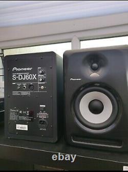 Pioneer S-DJ60X Active DJ Monitor Speakers- Black Powered PAIR