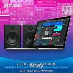 Presonus Eris E4.5 Pair 2-Way Active Powered Studio Monitor Speakers 25W New
