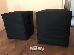 QSC HPR151i Powered Subwoofers + Covers (pair)