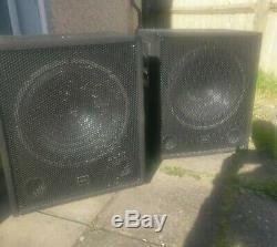QTX QT15SA 15 Active Powered 600W DJ PA Subwoofer Sub Party Club Bass PAIR