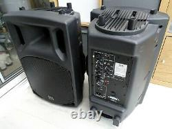 QTX QX12A Active 12 Powered PA Speakers (Pair) 400W / 800W DJ, Disco, Band