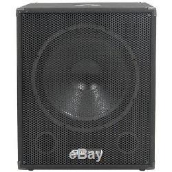 QTX Sound QT15SA Active Powered Subwoofers DJ PA Sub Speakers PAIR