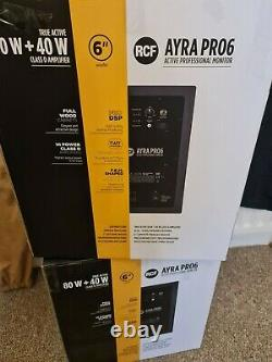 RCF AYRA PRO6 Active Powered Studio / DJ Monitors (pair) with xlr leads