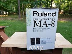 Rare New ROLAND MA-8 Stereo Micro Monitor Speakers Active Powered Studio Pair