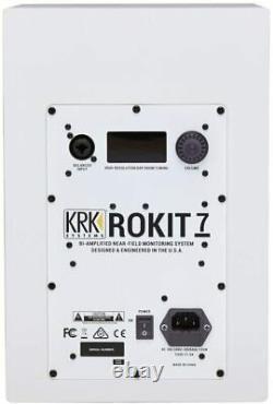 RiotSound KRK RP5 Rokit 5 G4 Bi-Amp 5 Powered Pair Studio Monitors, White Noise
